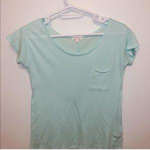 Mint short-sleeved shirt w/ pocket